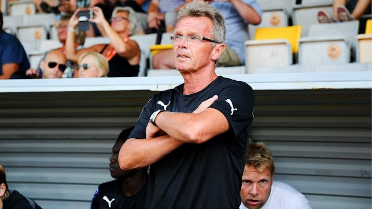 fotbollstränaren för Mjällby AIF Anders Linderoth