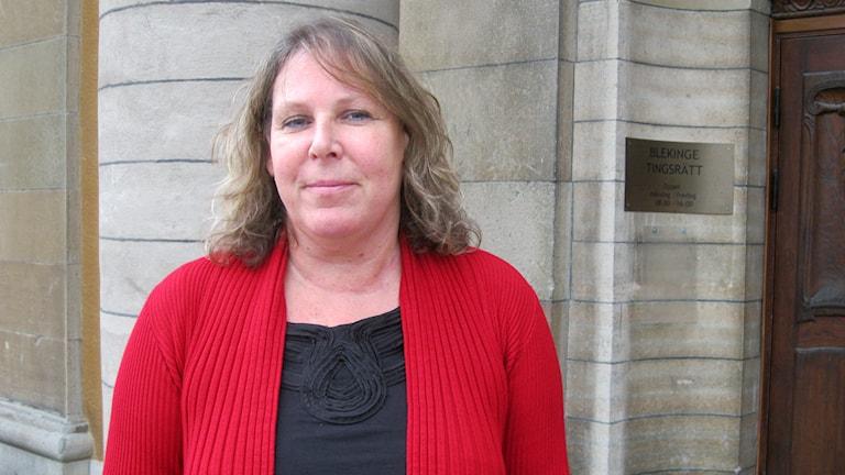Laila Kirppu, lagman vid Blekinge tingsrätt kommenterar sprängdådet i Malmö. Foto: Helena Strömblad/Sveriges Radio