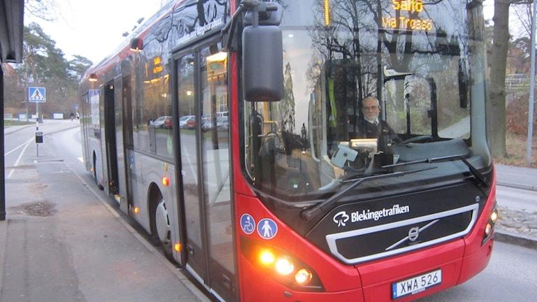 buss Jan Samuelsson Karlskrona stadstrafik. Foto: Carina Melin/Sveriges Radio