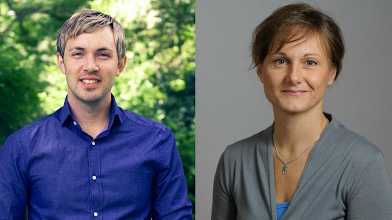 Magnus Manhammar (S) och Annicka Engblom (M). Foto: Sveriges Radio/