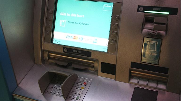 Uttagsautomat. Foto: Mikael Eriksson/Sveriges Radio