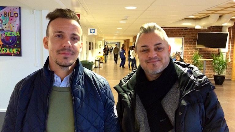 Moderaterna Emanuel Norén och Magnus Sandgren.
