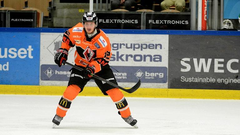 Erik Thorell, KHK stor matchhjälte med sina tre mål i matchen mot Mora. Foto: Oscar Anderberg