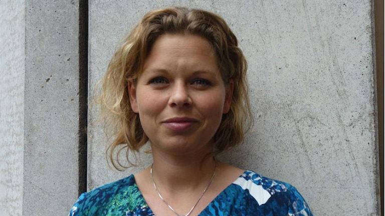 Karin Svensson, från Sölvesborg som är ordförande för Riksorganisationen för kvinnojourer och tjejjourer i Sverige