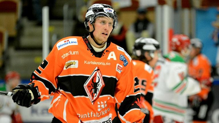 Alexander Bergström avgjorde matchen mot AIK med sitt 3-2 mål. Foto: Oscar Anderberg
