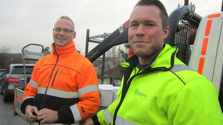 felanmälan gata park Karlskrona Mikael Olausson och Jens Nilsson. Foto: Carina Melin/Sveriges Radio