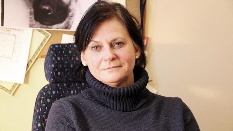 Helene Svedberg på Blekingepolisen. Foto: Åsa Holst/Sveriges Radio