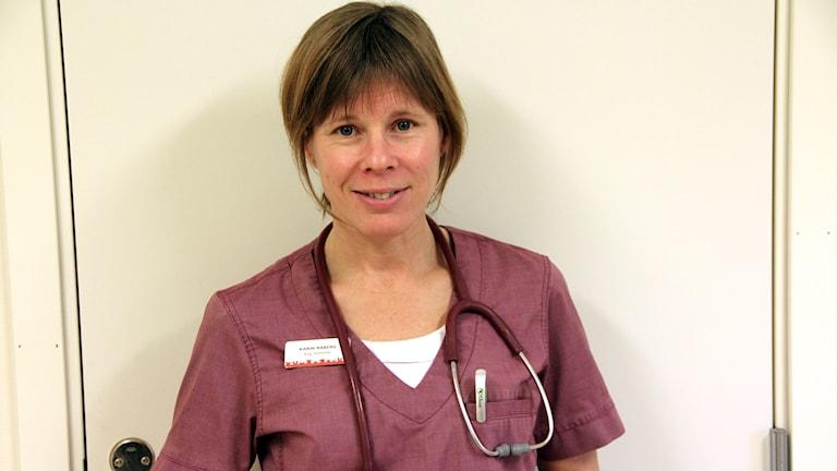 Karin Råberg, veterinär. Foto: Åsa Holst/Sveriges Radio