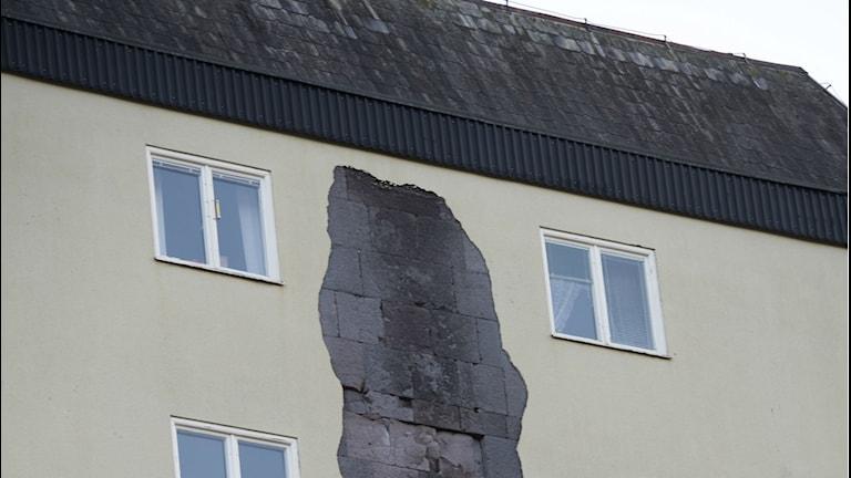 Förfallen fasad Foto/TT