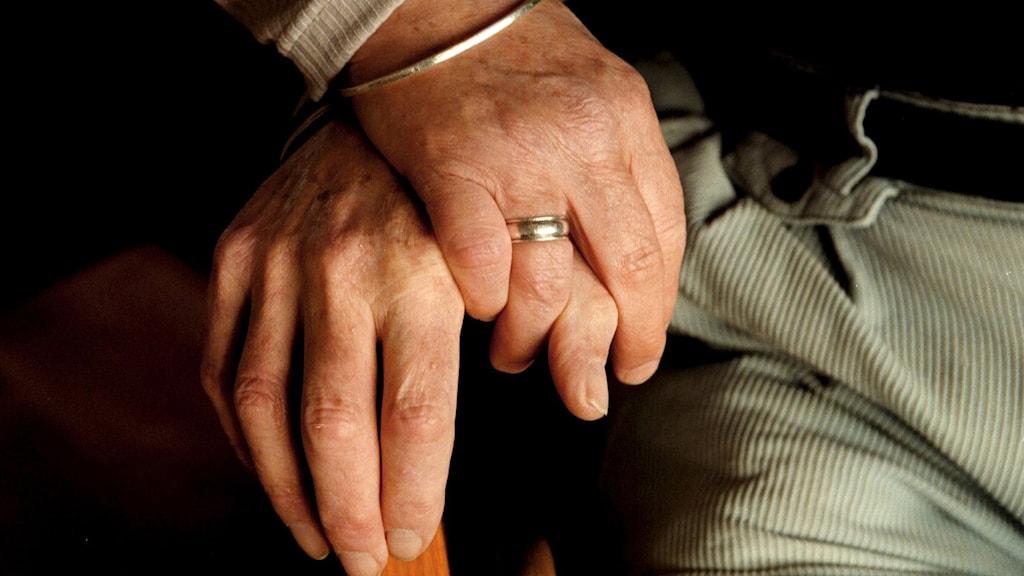 En kvinna och en mans händer, tillsammans. Foto: Jan Forsman/TT