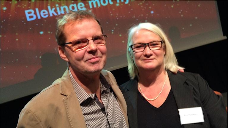 Anna-Lena & Peter Fransson har just vunnit.