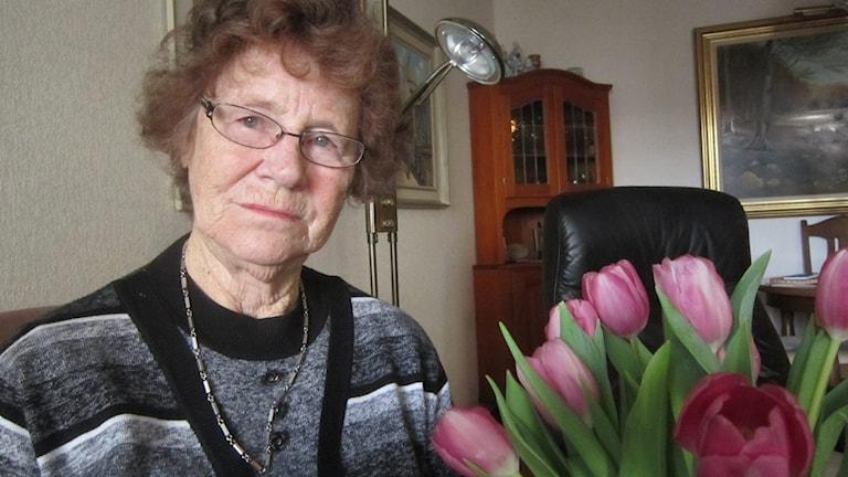 Hanna 88 Karlskrona vill ha plats på äldreboende. Foto: Carina Melin/Sveriges Radio