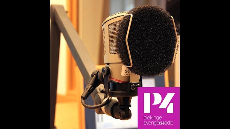 spridningsbild P4 Blekinge kanalflöde, bild på mikrofon.