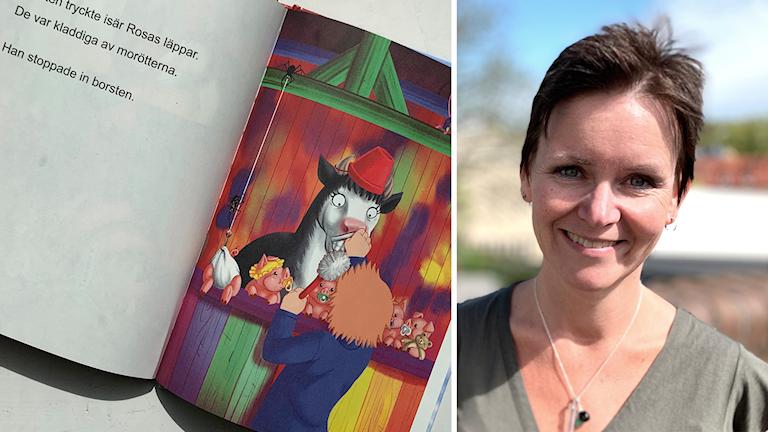 Johanna Svanborg skriver böcker för barn och vuxna med dyslexi.