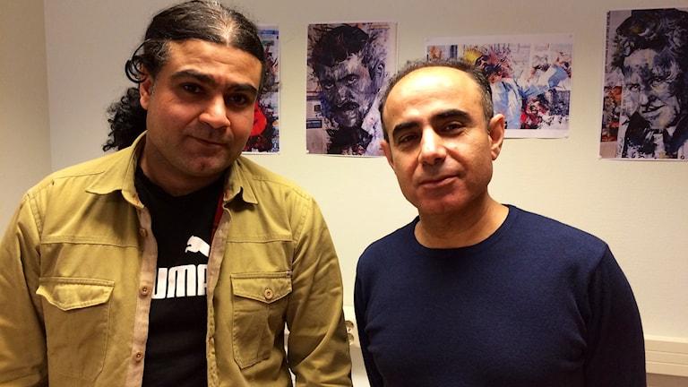 Diyar Omer och Razgar Mustafa. Foto: Martin Arvebro/Sveriges Radio