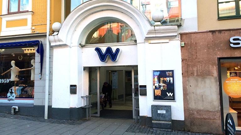 Fasaden till Wachtmeister galleria i Karlskrona.  Foto: Martin Arvebro/Sveriges Radio