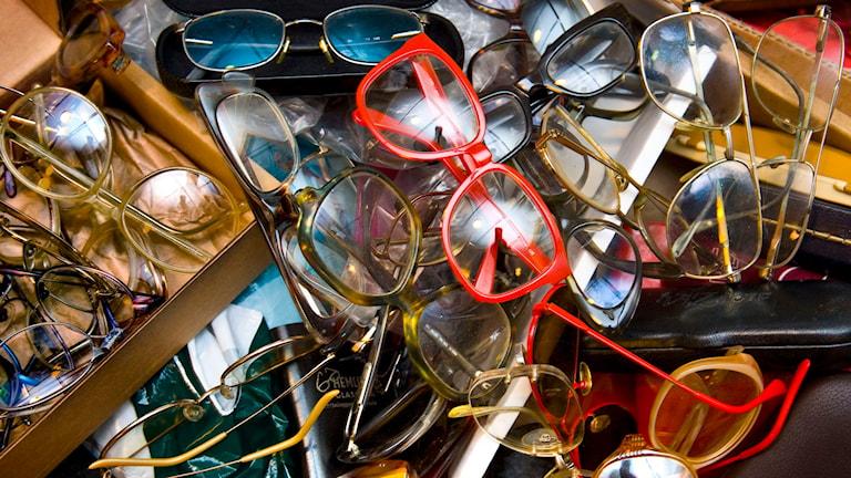 Glasögoninsamling.  Foto:Claudio Bresciani/TT