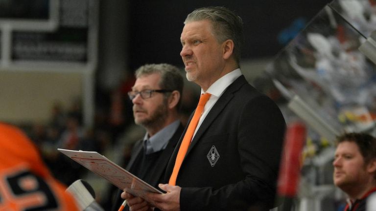 Pelle Hånberg, tränare i Karlskrona HK. Foto: Oscar Anderberg