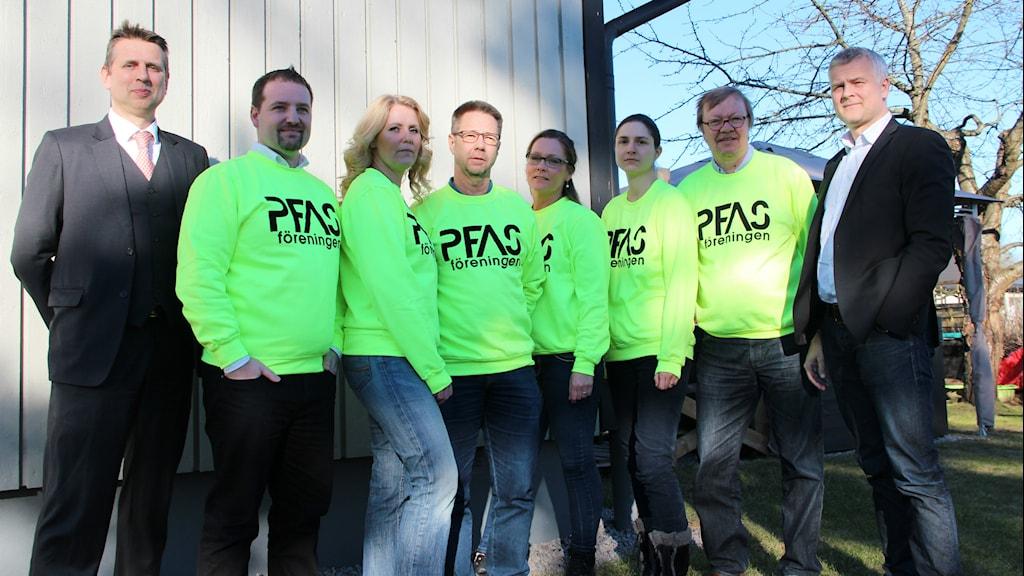 PFAS-föreningen i Kallinge uppställd. Foto: Mikael Eriksson/Sveriges Radio