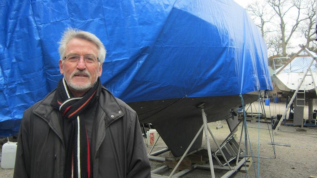 Lars-Göran Forss ordförande Karlskrona Segelsällskap. Foto: Carina Melin/Sveriges Radio