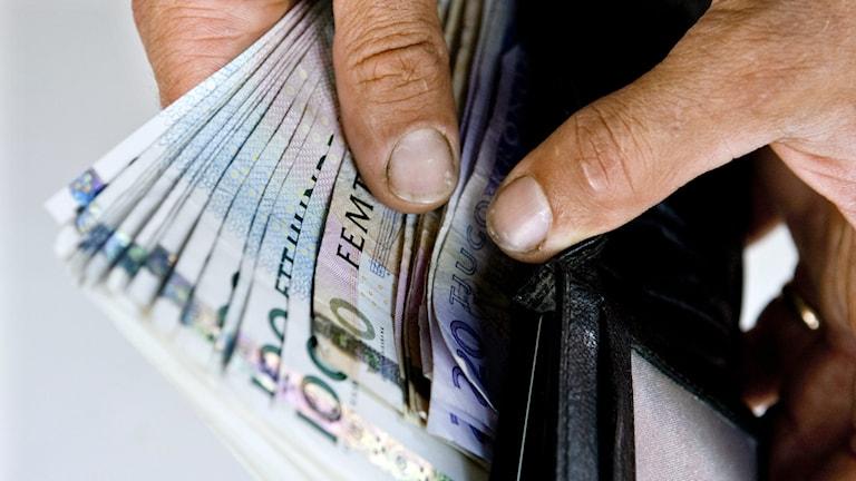 Plånbok med sedlar. Foto: Christine Olsson/TT