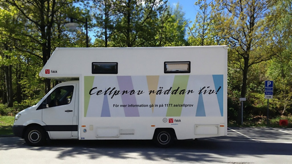 Cellprovsbuss. Foto: Landstinget Blekinge