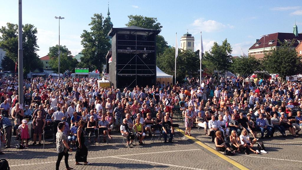 Det var runt 1500 i publiken på Svensktoppen nästa 2014. Foto:Daniel Kjellander/Sveriges Radio.