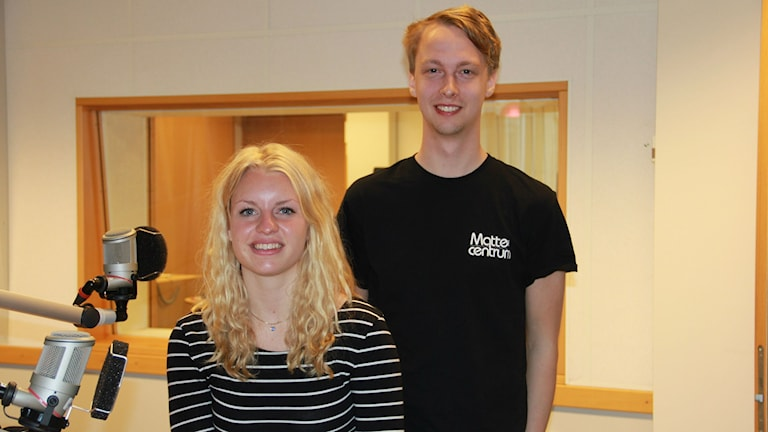 Johan Eliasson och Rebecka Sölvenäs. Foto:Linn Elmstedt/Sveriges Radio