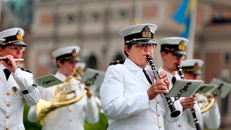 Marinens musikkår. Foto: Sören Andersson/TT