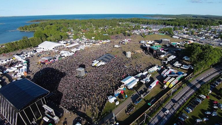 Sweden Rock Flygbild 1 under Totos spelning 2015. Foto:Håkan Linder