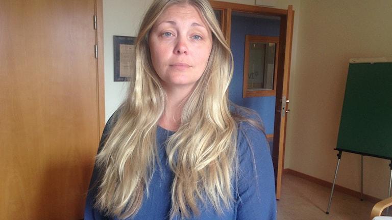 Josefin Landehag ordförande för tjejjouren Tindra i Karlskrona. Foto: Johan Svensson/Sveriges Radio.