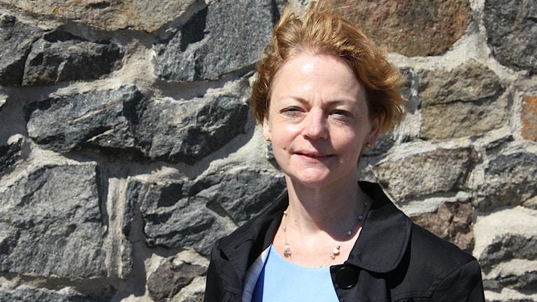 Ann-Kristin Adolfsson Affärsenhetschef Saab Kockums. Foto: Mikael Eriksson/Sveriges Radio
