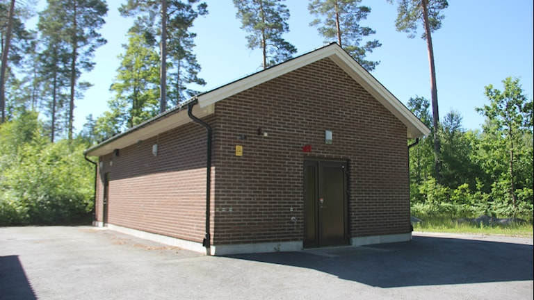 Pumphus i skogen utanför Saleboda. Foto: Mikael Eriksson/Sveriges Radio