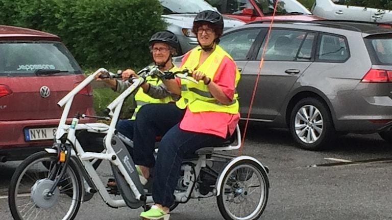 Äldreförvaltningen i Ronneby har köpt en cykel. Foto: Lena König/Sveriges Radio.