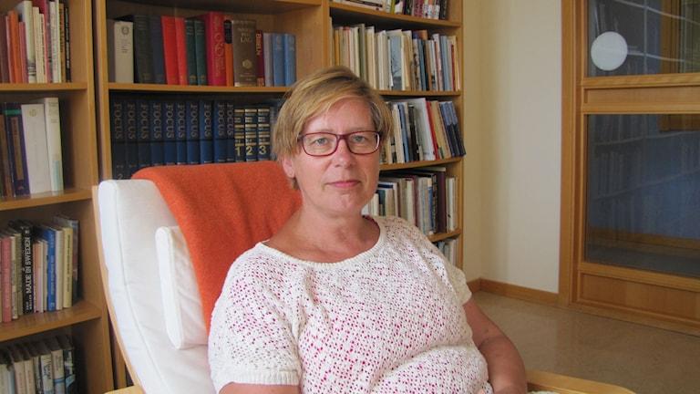 Chatarina Holmberg som är socialdemokratisk ordförande i kunskapsnämnden i Karlskrona