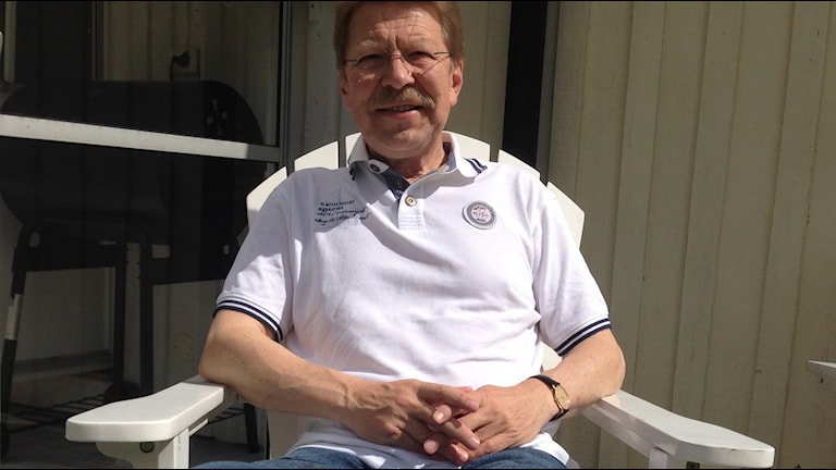 Rolf Persson räddades av en hjärtstartare. Foto: Johan Svensson/ Sveriges Radio.