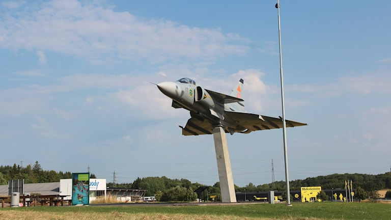 Viggenplanet på pelaren utanför Ronneby. Foto: Mikael Eriksson/Sveriges Radio