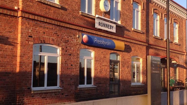 Ronneby Station. Foto: Ingrid Elfstråhle/Sveriges Radio