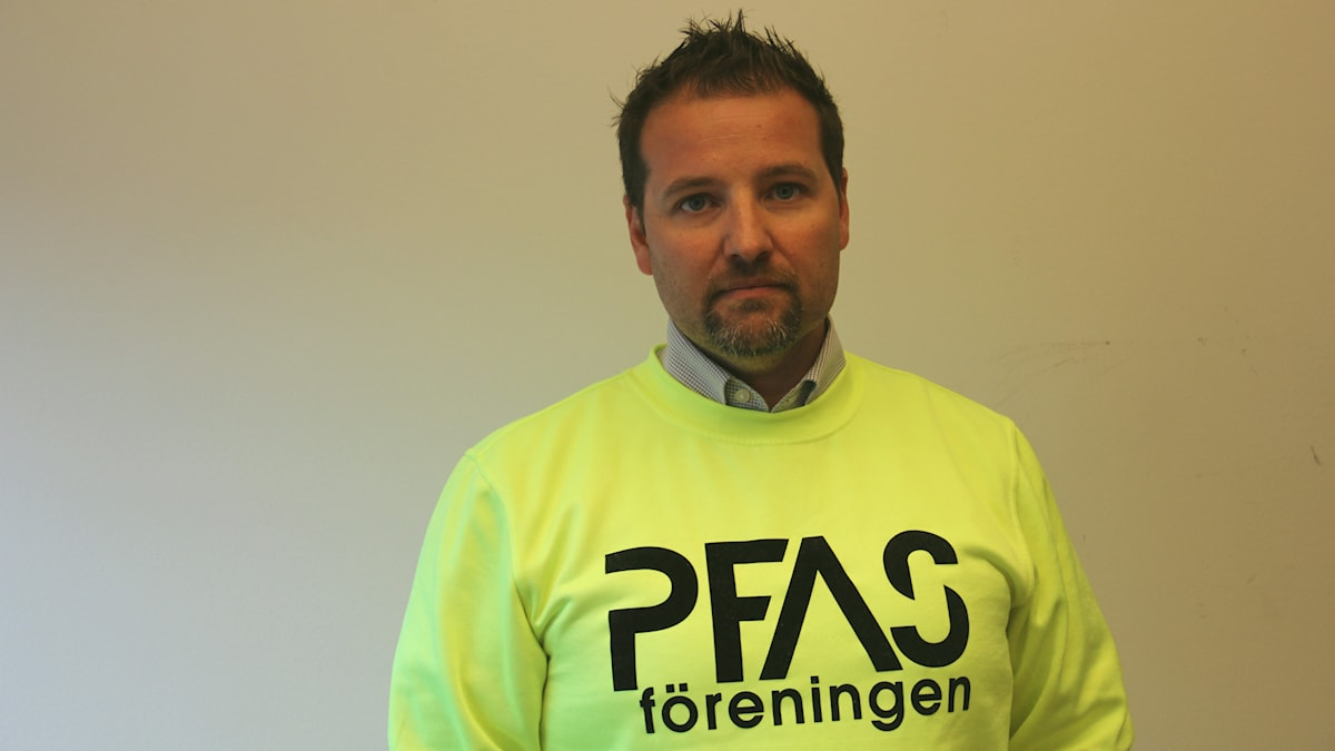 Herman Afzelius som är ordförande i PFAS-Föreningen. Foto: Mikael Eriksson/Sveriges Radio