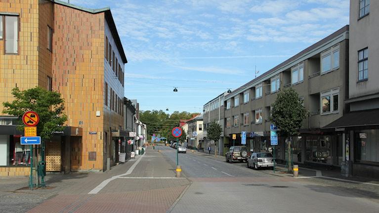Gata i Ronnebys centrum. Foto: Mikael Eriksson/Sveriges Radio