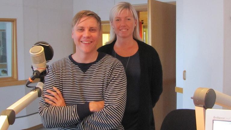 Lina Nilsson och Mathias Roos. Foto: Ingrid Elfstråhle/Sveriges Radio