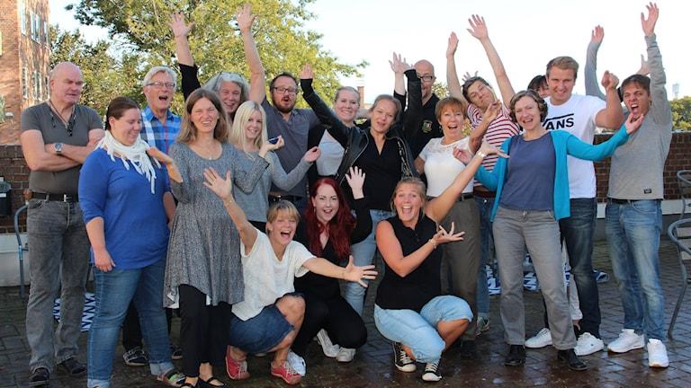 SR Blekinges personal. Foto: Ingrid Elfstråhle/Sveriges Radio