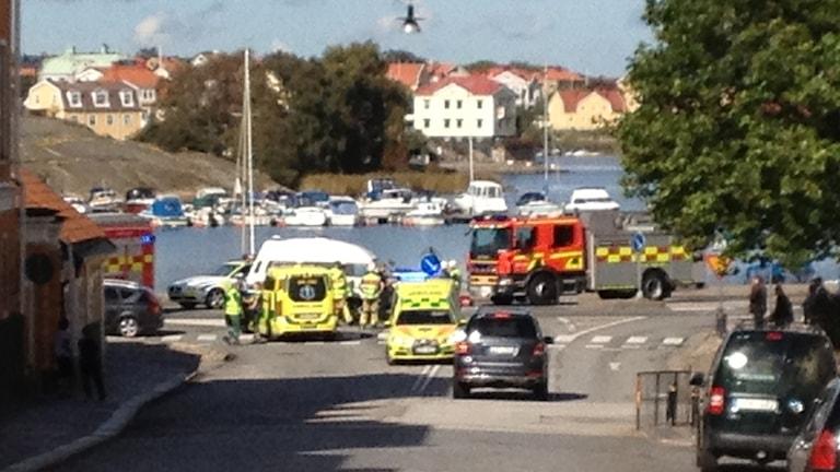 Trafikolycka. Foto: Rebecka Gyllin/Sveriges Radio