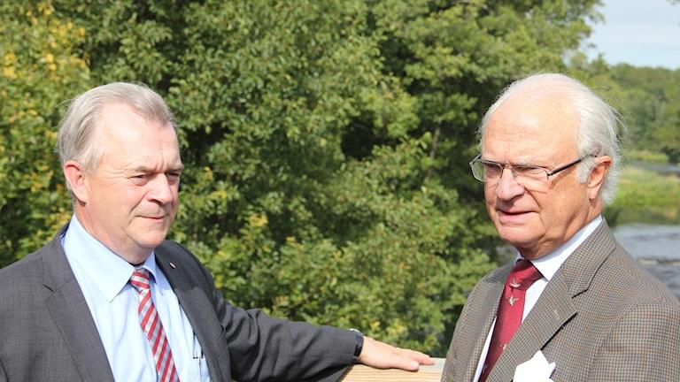 Sven-Eric Bucht (S) och Carl XVI Gustav. Foto: Mikael Eriksson/Sveriges Radio