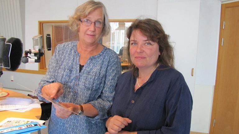 Helene Nilsson logoped och Ingrid Svensson Hjälpmedelscentralen.