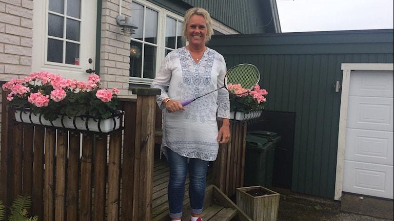 Annika Lindgren och veteran-vm i badminton. Reporter: Lena König/Sveriges Radio.