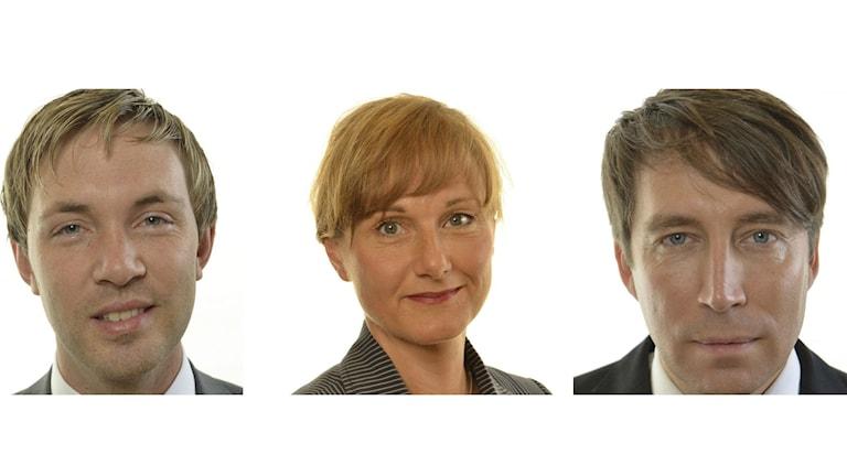 Magnus Manhammar (S) Annicka Engblom (M) Rickard Jomshof (SD). Foto: Riksdagen