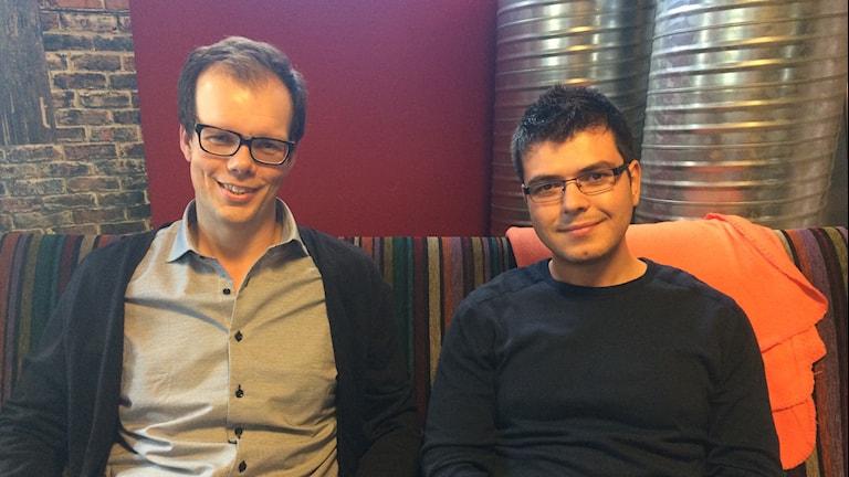 Marcus och Bahaa växer tillsammans. Foto: Lena König/Sveriges Radio