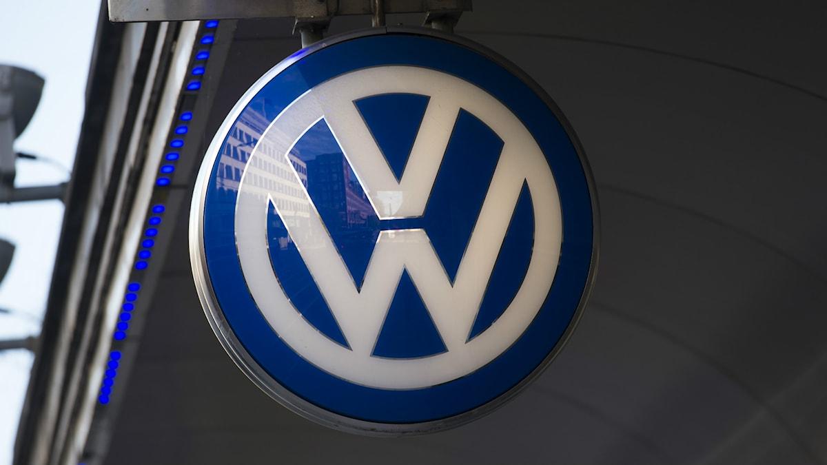 Logga på Volkswagen. Foto: Fredrik Sandberg/TT