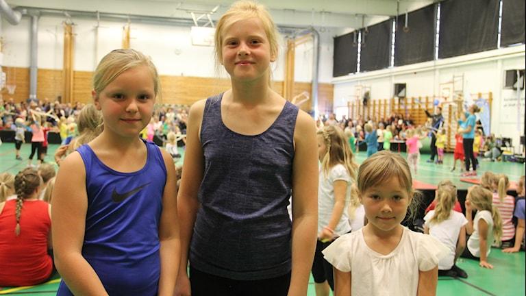 Meja Johannesson, Agnes Berlin och Meja Lennartsson. Foto: Mikael Eriksson/Sveriges Radio